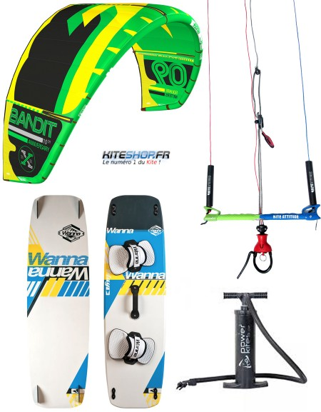 PACK F-ONE BANDIT 2017 + BARRE F-ONE + PLANCHE WANNA + POMPE