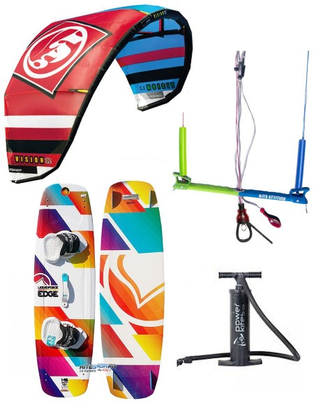 pack kitesurf rrd vision mk4 avec planche barre et pompe. Black Bedroom Furniture Sets. Home Design Ideas