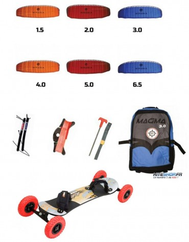 PACK MOUNTAINBOARD + AILE ELLIOT MAGMA 3 + BARRE