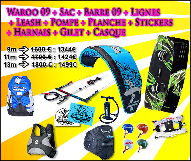 pack kitesurf complet best waroo 2009 kiteshop. Black Bedroom Furniture Sets. Home Design Ideas