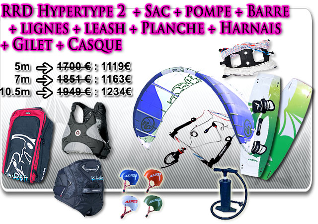 pack kitesurf complet rrd hyper type 2 kiteshop. Black Bedroom Furniture Sets. Home Design Ideas