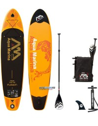 """PADDLE GONFLABLE AQUA MARINA FUSION TAILLE 10"""" + PAGAIE 2018"""