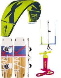 PACK F-ONE BANDIT 2019 + BARRE KITE ATTITUDE + PLANCHE BLANKFORCE LOGIC + POMPE