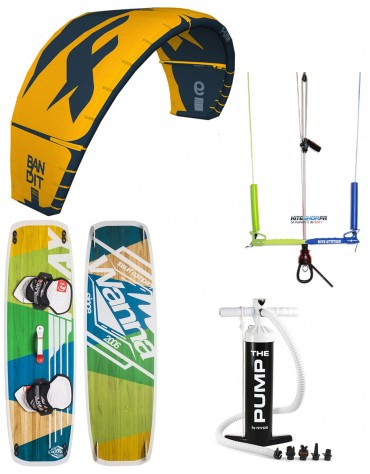 PACK F-ONE BANDIT 2020 +BARRE KITE ATTITUDE + PLANCHE WANNA PLAY + POMPE