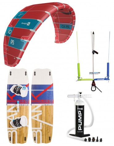 PACK ELEVEIGHT RS 2020 + BARRE KITE ATTITUDE + PLANCHE BLANKFORCE LOGIC + POMPE
