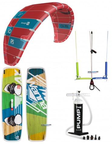 PACK ELEVEIGHT RS 2020 + BARRE KITE ATTITUDE + PLANCHE WANNA PLAY + POMPE