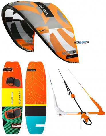 PACK DE KITESURF RRD PASSION MK8 + PLANCHE PLACEBO V6+ BARRE GLOBAL V7
