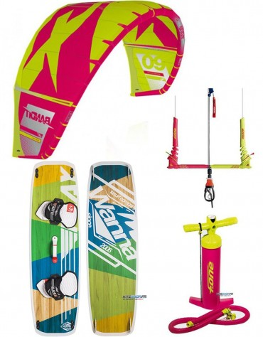 PACK F-ONE BANDIT 2018 + BARRE F-ONE + PLANCHE BLANKFORCE LOGIC + POMPE