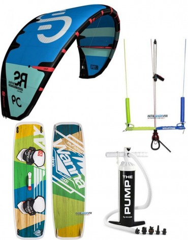 PACK ELEVEIGHT RS + BARRE KITE ATTITUDE + PLANCHE WANNA