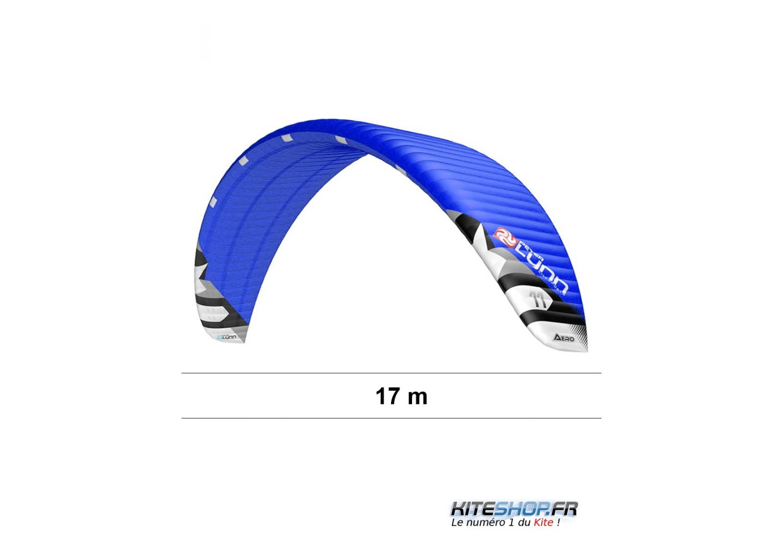 Peterlynn Aero 17m (1 flight)+ bar  Aile-de-kitesurf-peter-lynn-aero-ultra-light-17m-complete